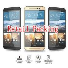 2.5D 9 H À Prova de Explosão Premium Vidro Temperado Protetor de Tela Para HTC One M4 M7 M8 M9 M9 M9 PLUS + Caso Capa Protetora filme