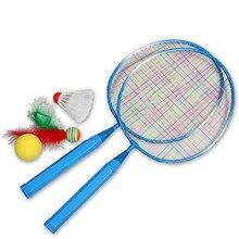 1 пара молодежных детских ракетов для бадминтона, спортивный костюм с рисунком, игрушка для детей, малышей