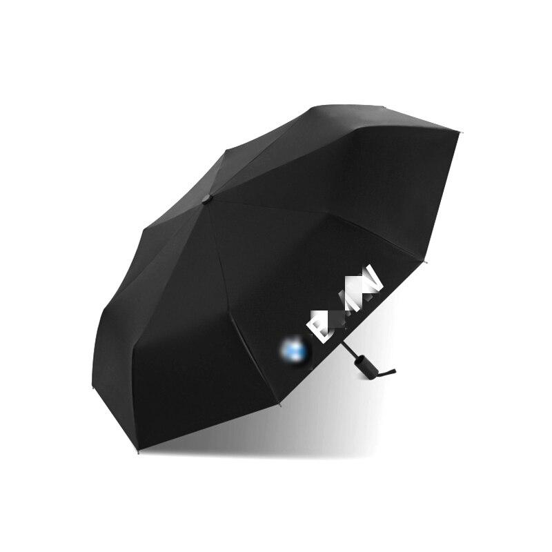 Car Automatic Umbrella With Logo For BMW F32 F34 G30 G38 G50 F01 E80 E90 E92 E71 E60 Strong Windproof High Quality Rain Umbrella