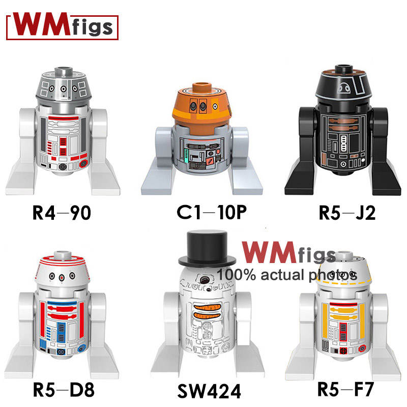 Model Building Star Wars Single Sale Sw424 R5-f7 R4-90 R5-d8 C1-10p R5-j2 Building Blocks Bricks Legoinglys Friends Hot Gifts Toys For Children Relieving Rheumatism And Cold