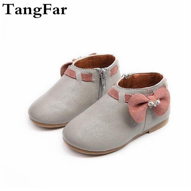 08c5c75c1 Cuero niños niñas Martin botas antideslizantes inferiores suaves niños moda  Zapatillas zapato cómodo (bebé