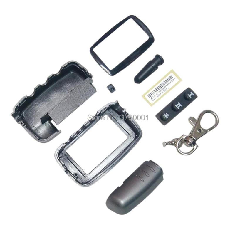 A9 Case Keychain For Russian Version Starline A9 A8 A6 A4 Key Body Case Two Way Car Alarm System LCD Remote Control