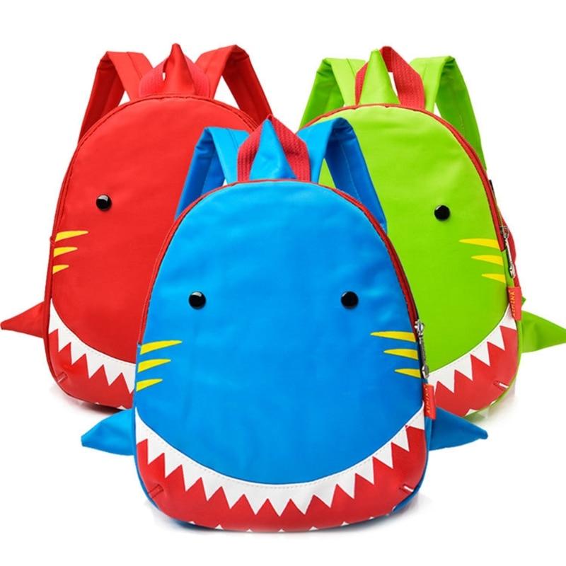 0-3 ans Enfants 102701 Requin Sac À Dos Sacs D'école de Dessin Animé Enfants Sac À Dos En Nylon Poche Ouverte Casual