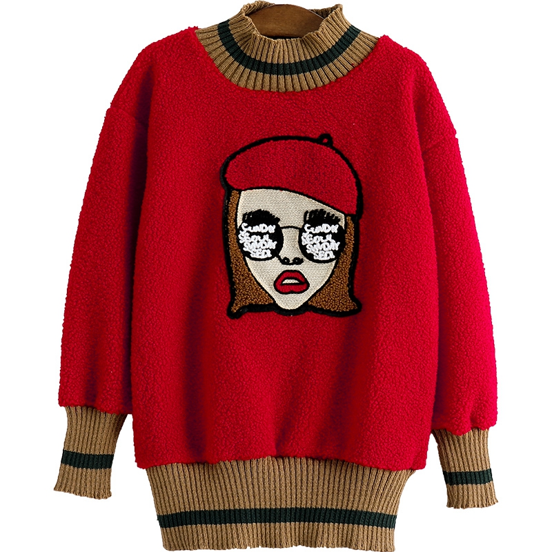 4026e12df 2018Teenagers girls sweater Cartoon Cute Casual Cotton Girls Winter ...