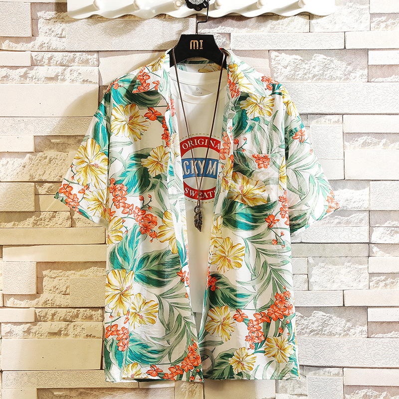 HTB1YKOkhK3tHKVjSZSgq6x4QFXaq - Print Brand Summer Hot Sell Men's Beach Shirt Fashion Short Sleeve Floral Loose Casual Shirts Plus Asian SIZE M-4XL 5XL Hawaiian