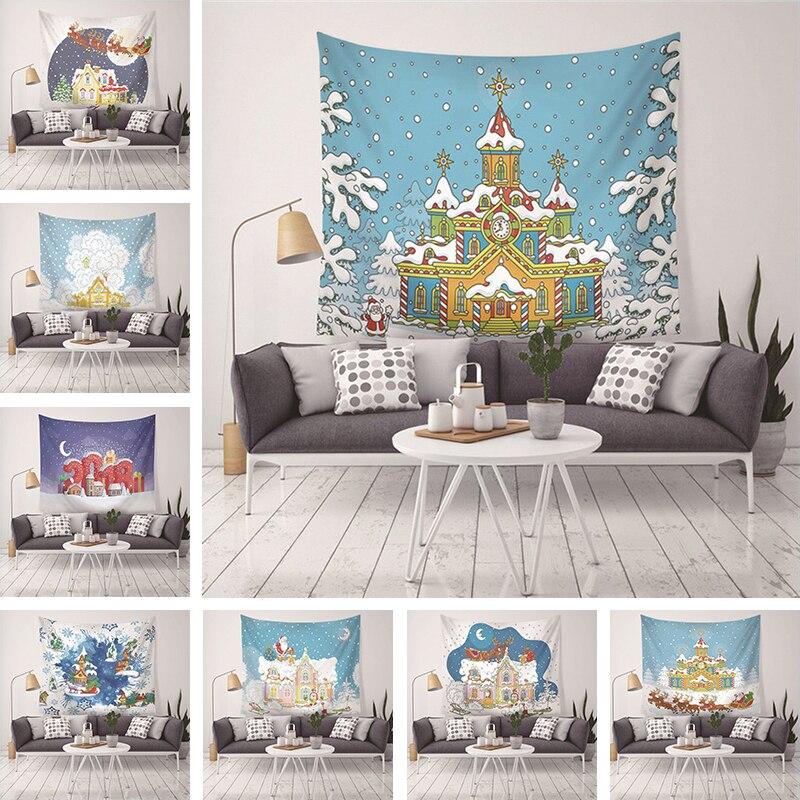 2018 nouvelle tapisserie de noël psychédélique Mandala partie famille mur couverture décoration de la maison couverture nappe tapis de Yoga 200*150