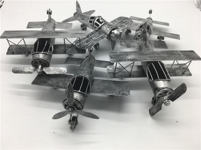 2017 Vintage Airplane Home Decor Iron Fighter Retro Airplane Model Toys For  Children Birthday GIFTS Home