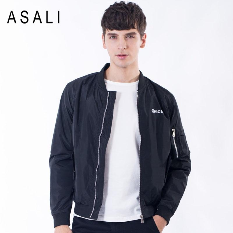 Bomber Jacket Men New 2017 Autumn Thin Style Outwear Windbreak Coats Collar Zipper Slim Fit Motorcycle Army Green Jackets Men