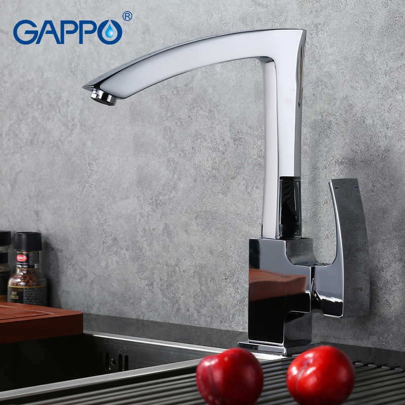 GAPPO New Arrival Brass Solid Kitchen Faucet Letter Seven Design Single Handle Cold and Hot Water Mixer GA4007 new arrival without original box house kitchen cart barbecue kitchen cart simulation role playing best early education toys