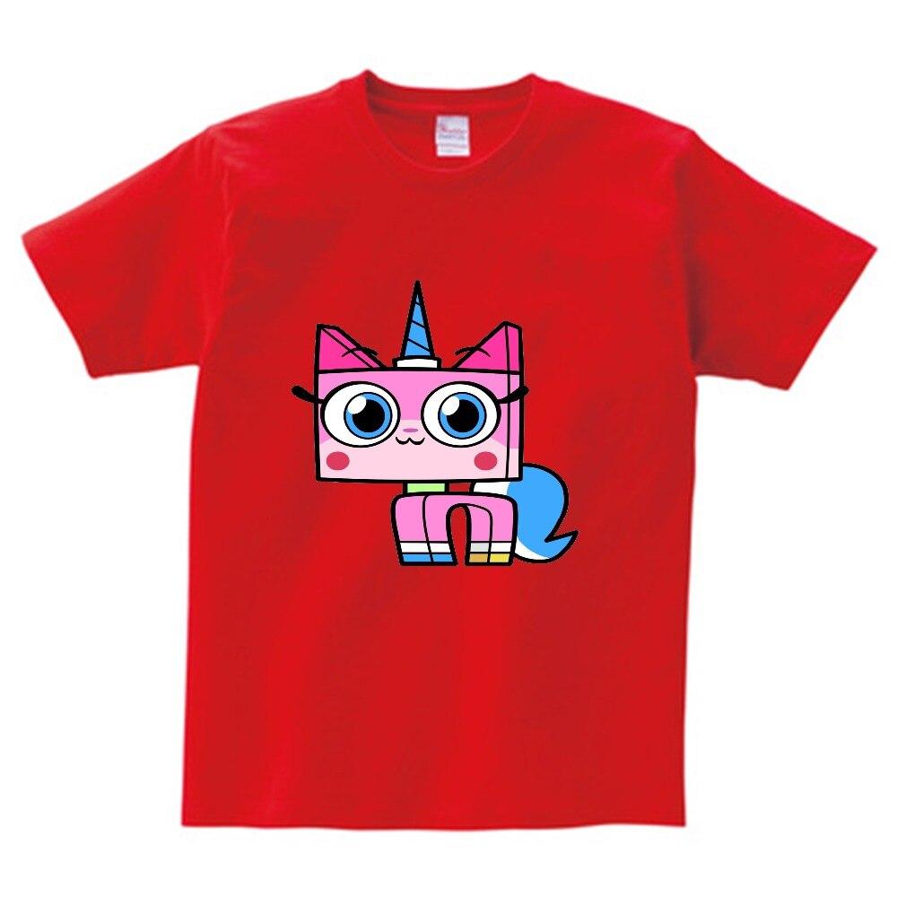 Kids Positive T-Shirt Unikitty tops girls boys tshirt summer style pattern tee children casual Harajuku t shirts camiseta  NN