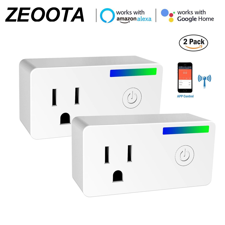 Wifi Smart Plug, 2 Pack Remote Control Plug Socket Work with