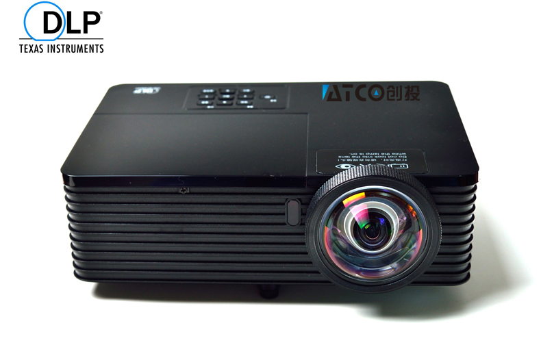 Short Throw Focus 300inch 6000ANSI DLP Video Digital 3D Projector HD Cinema PC DVD VGA Digital 1080P Video For Education new short throw 300inch dlp hologram 3d projector hd pc usb vga daylight 1080p rear video beamer lamp for education school