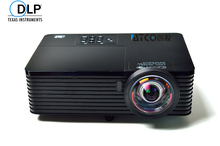 Short Throw Focus 300inch 6000ANSI DLP Video Digital 3D Projector HD Cinema PC DVD VGA Digital 1080P Video For Education