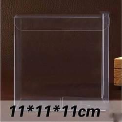 1 лот = 10 шт. 11*11*11 см ПВХ коробке разных размеров квадратной формы упаковочная коробка из ПВХ Пластик упаковку для сувенир/Candy/свадебные