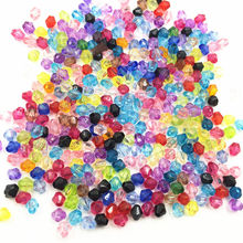 1000Pcs Mixed Colourful Spacer Beads Tiny Rhombus Acrylic Craft Fashion Jewelry DIY Findings 4mm