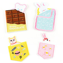 DOUBLEHEE Cartoon Pockets Patch Embroidered Patches For Clothing Iron On Close Shoes Bags Badges Embroidery