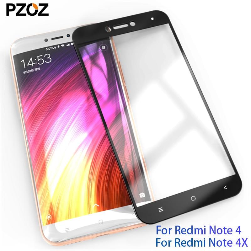 PZOZ xiaomi redmi note 4x Glas Vollabdeckung Prime Displayschutzfolie xiaomi redmi note 4 pro gehärtetes xiomi redmi note4x Glas 2.5D