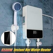 220 В 6500 Вт мгновенный нагрев Электрический подогреватель воды быстрый нагрев постоянной Температура с душевой насадкой светодио дный Дисплей