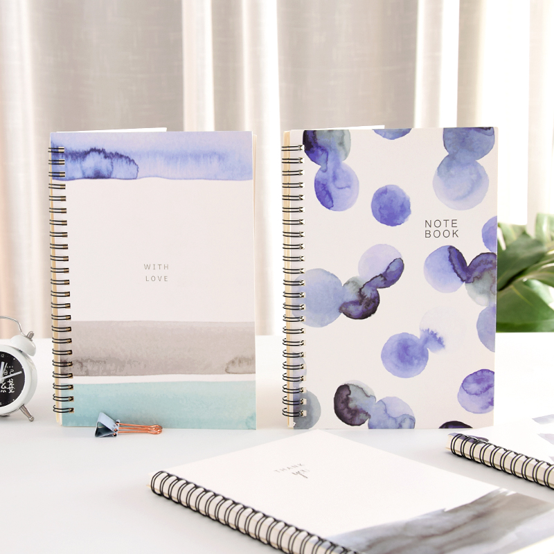 4 pcs/lot B5 thickening coil stationery notebook Korea small fresh simple college student notebook A5 wholesale bicelle hydra b5 toner 240ml fresh