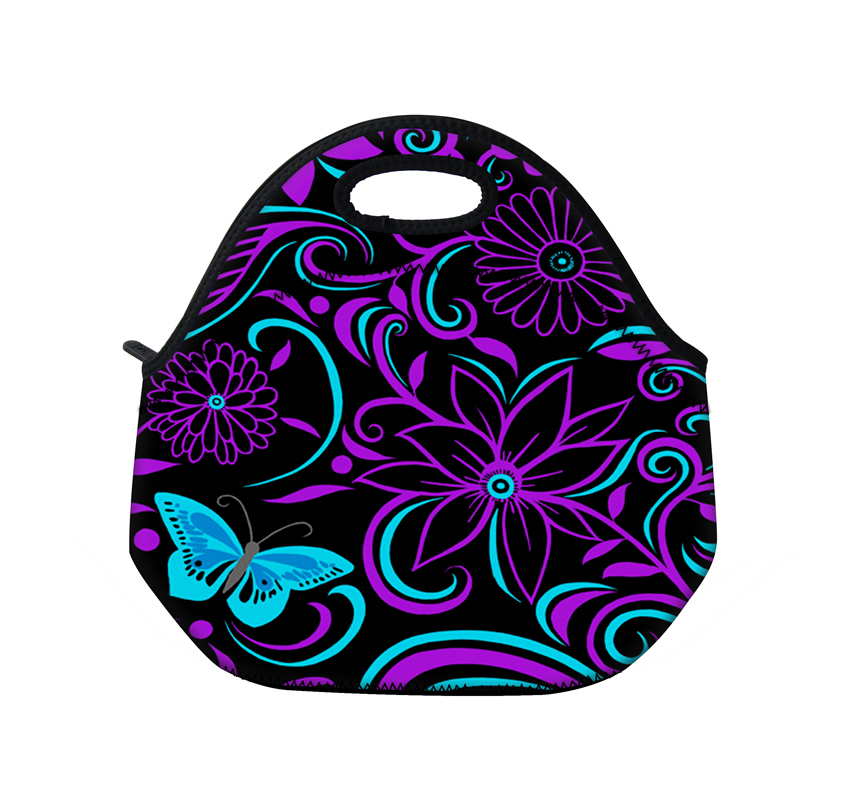 Purple Worlds Neoprene Thermal Insulated Portable Lunch