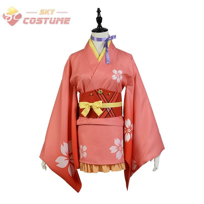 2016 Anime Kabaneri of the Iron Fortress Mumei Yukata Kimono Dress Uniform Cloth Cosplay Costume Halloween Full Set