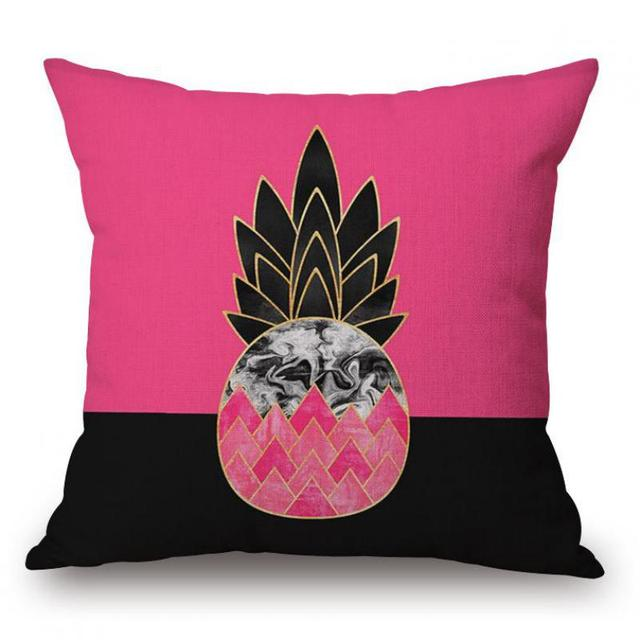 New Arrival Europe And The United States Bright Color Pineapple New Bright Colored Decorative Pillows