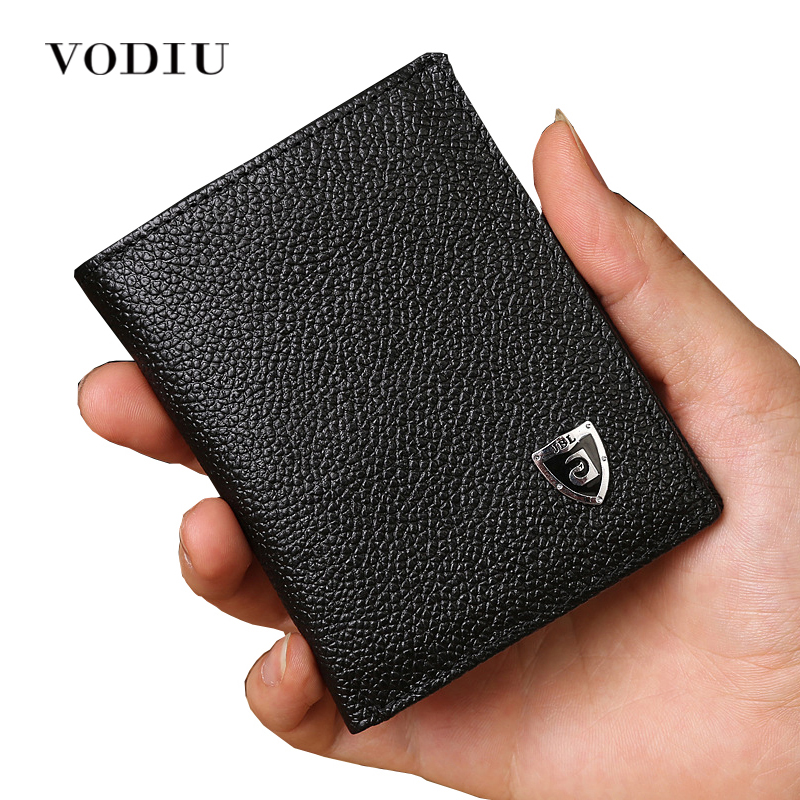 2017 Men Brand Mini Luxury Genuine Leather Men Small Wallet Short Slim Purse Card Holder Minimalist Designer Money Dollar Clip williampolo mens mini wallet black purse card holder genuine leather slim wallet men small purse short bifold cowhide 2 fold bag