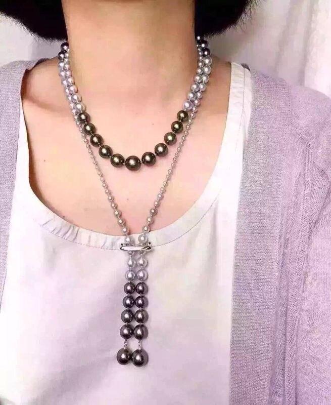 Collier de mode en perle de coquillage