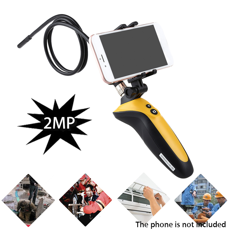 HT-669 Wifi Endoscope Wireless Borescope IP67 Tube Snake Inspection Camera 1M Cable 720P 6 LEDs For IOS Android chinscope 99d 2 4 inspection endoscope diameter 3 9mm camera 1m tube length snake industrial endoscope with carrying box case