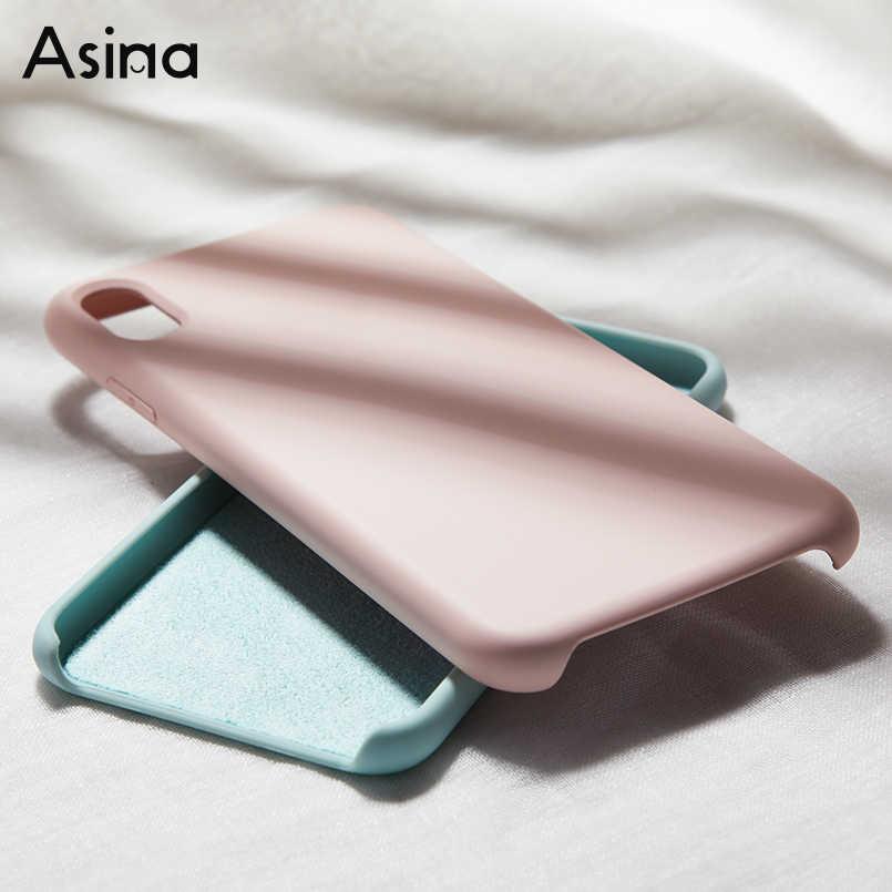 Оригинальный силиконовый чехол для iPhone 7 8 Xs Max Роскошный чехол простой цветной силикон чехол для iPhone 6 6s Plus X XR Funda Coque Capas