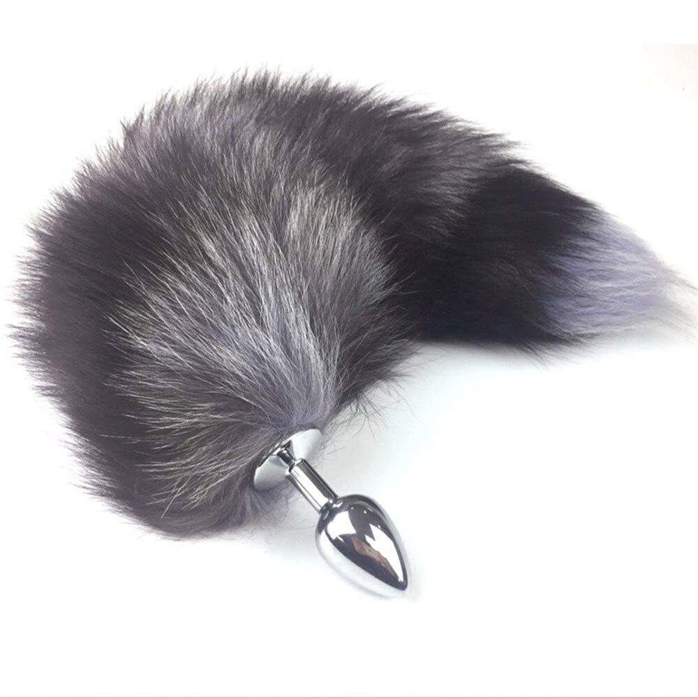 Aliexpresscom comprar juguetes sexy metal fake fur cola de perro zorro-9286