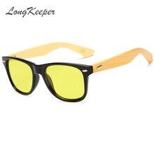 LongKeepe New Hot Wood sunglasses men brand designer
