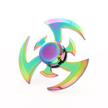 New Fidget Hand Spinner Zinc Alloy Metal Rainbow Spiner Anti-Anxiety Toy of Spinners Focus Relieves Stress Adhd Finger Spinner E three blade alloy abs fidget spinner