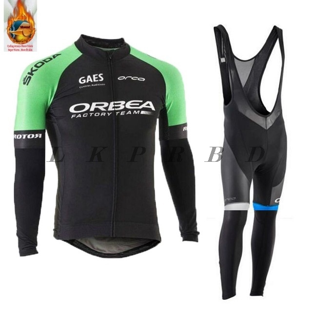 2018 NEW ORBEA winter Thermal Fleece cycling jersey long sleeve men with pants cycling sets bike wear cycling 9D gel 21 colors