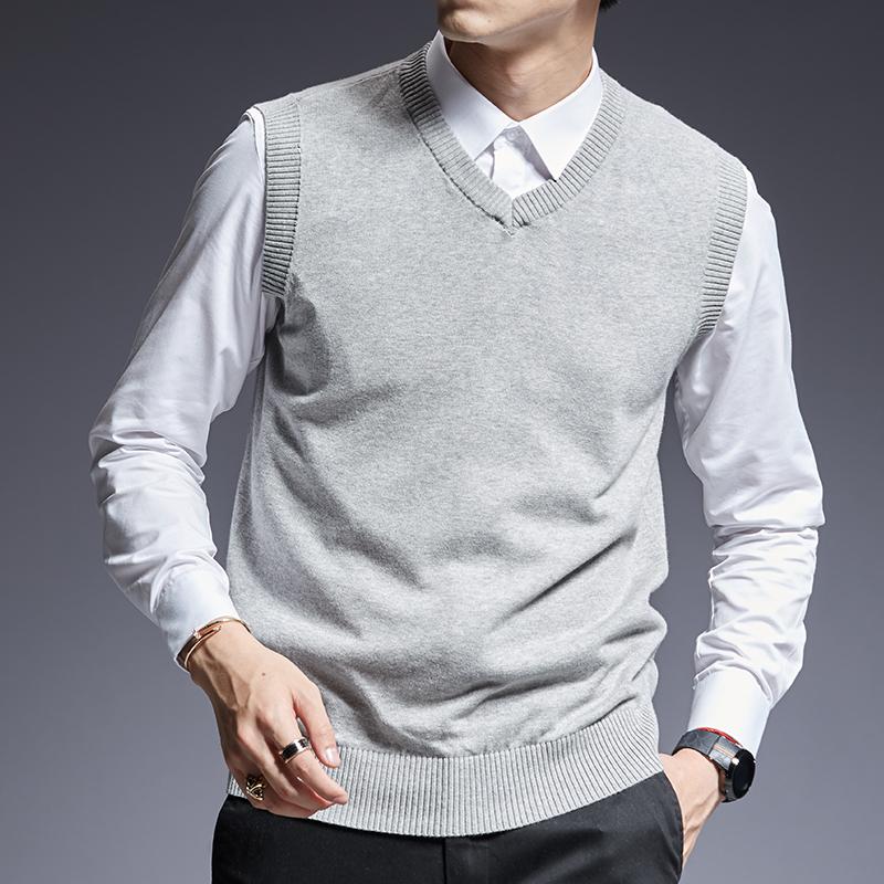 Trustful 2019 New Fashion Brand Sweaters Men Pullovers Sleeveles Slim Fit Jumpers Knit Solid Color Autumn Korean Style Casual Men Clothes