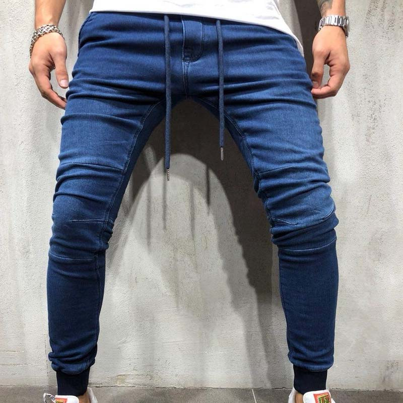 Solid Skinny Jeans Men Fashion Streetwear Jeans Hip Hop Slim Fit Pencils Denim Pants Male Stretchy Jeans Plus Size 3XL
