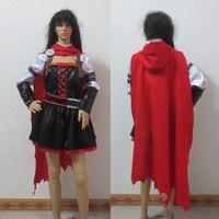 Anime Ruby Rose Cosplay rwby rojo manto vestido batalla uniforme Halloween  traje Ful hecho a medida d7ad40ad8de6