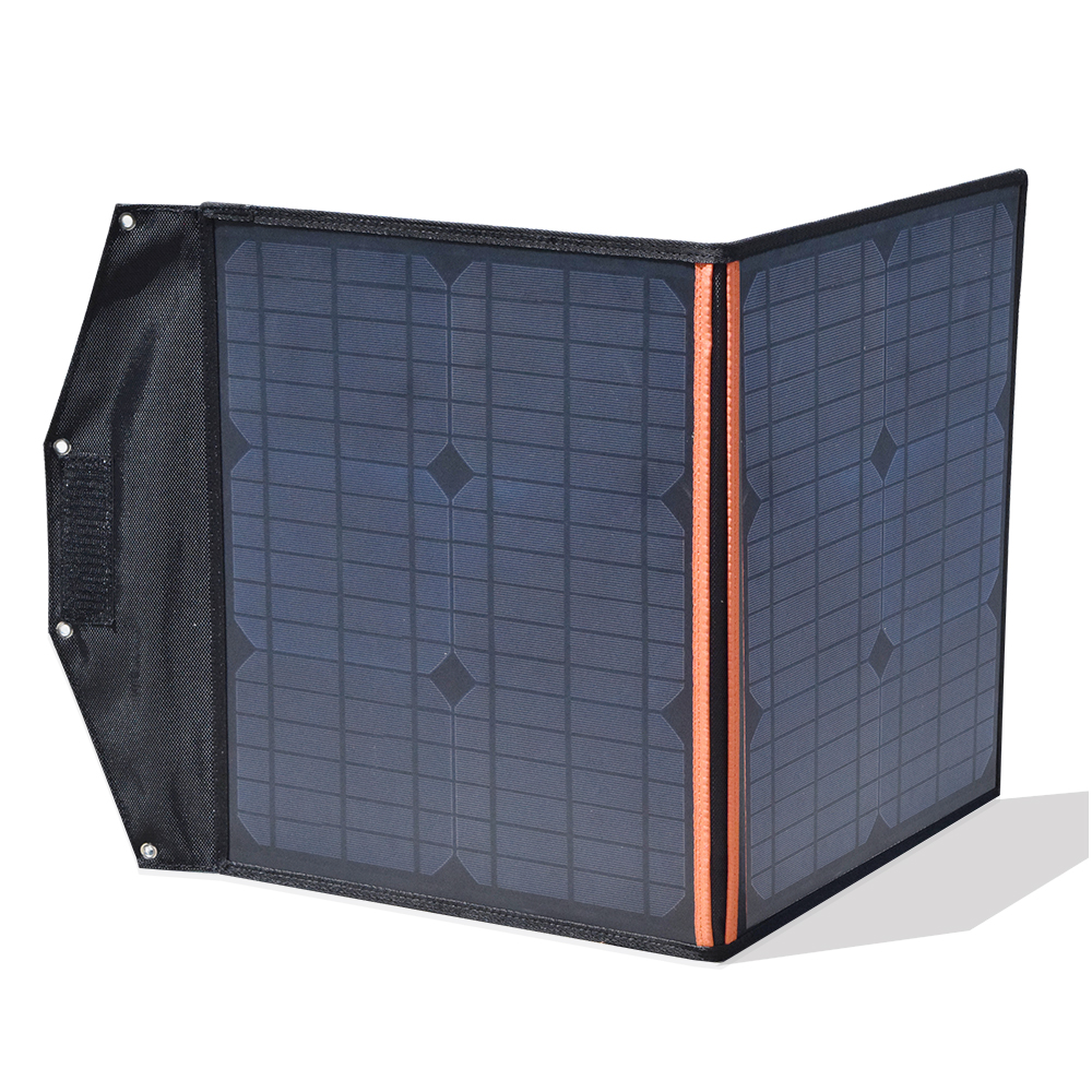 40w foldable solar charger solar panel 5V USB and 12V DC Output Portable Foldable Power Bank Solar Charger 18v or less equipment xinpuguang solar panel charger 100w 9v 18v foldable portable black fabric waterproof power bank phone 12v battery dual usb 5v 2a