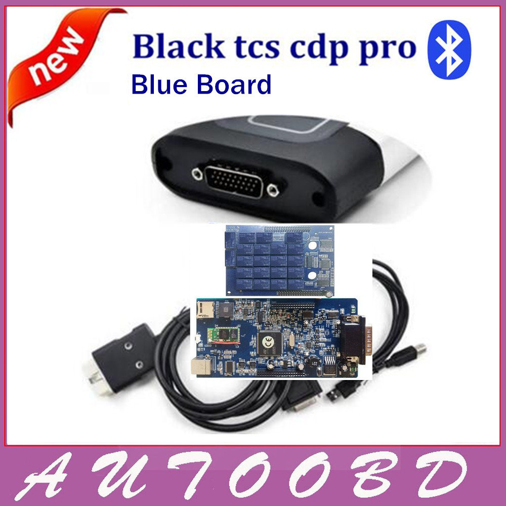 ФОТО 4PCS DHL Freehship Black tcs cdp pro Two Board with bluetooth Works On Cars Trucks OBDII OBD2 Professional Auto diagnostic tools