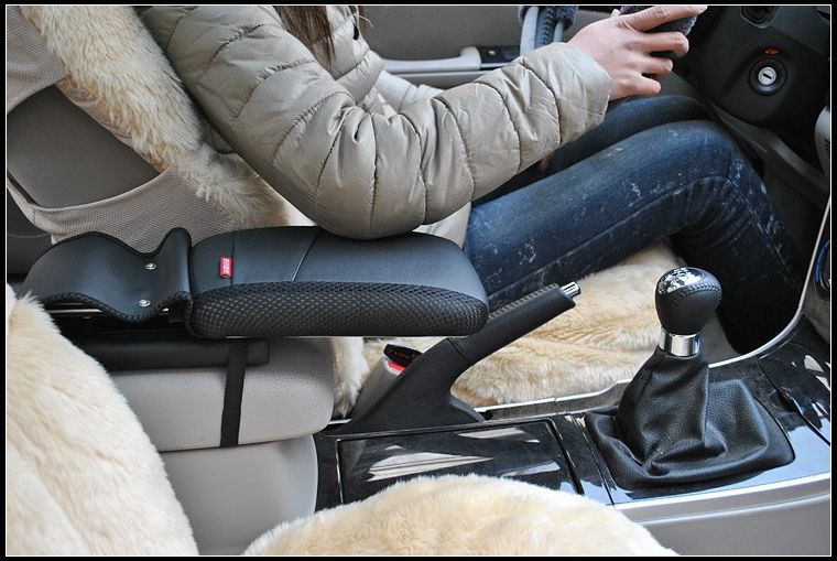 Center console armrest storage box elbow supporting Black for Toyota Land Cruiser Prado FJ120 FJ150 FJ200 RAV4