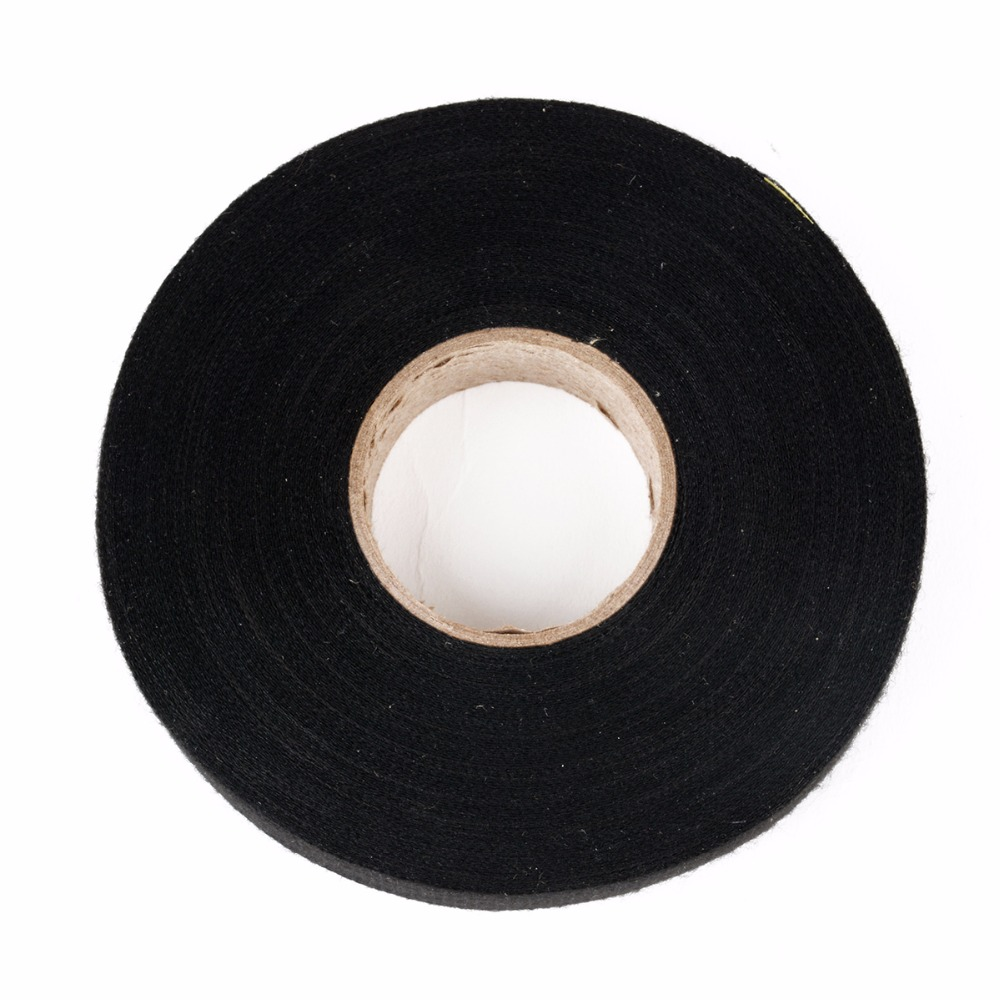 1pc Automotive Wiring Harness Tape Heat Resistant Adhesive Cloth Protection Fabric Auto Car Looms 19mm X 25m