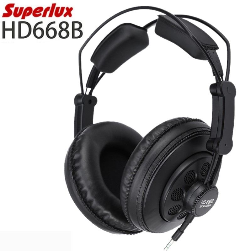 Original Superlux HD668B professional semi open studio standard dynamic headphones monitoring for music detachable audio cable