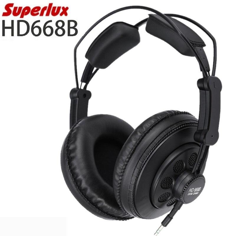 Оригинальные Superlux HD668B профессиональные полуоткрытые студийные стандартные динамические наушники для мониторинга музыки съемный аудио кабель|Наушники и гарнитуры|   | АлиЭкспресс