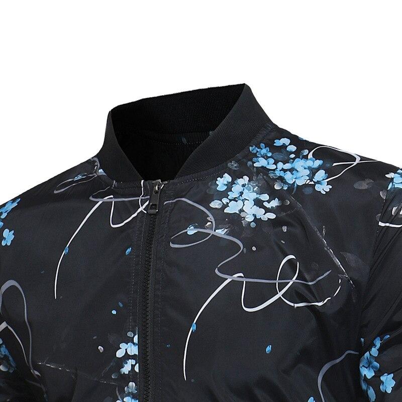 De Survêtement Jaqueta Vestes Masculina Casual Mode Fit Hommes Impression Veste Z30 Printemps 2017 Et Manteaux Black Slim wOB1tq7O