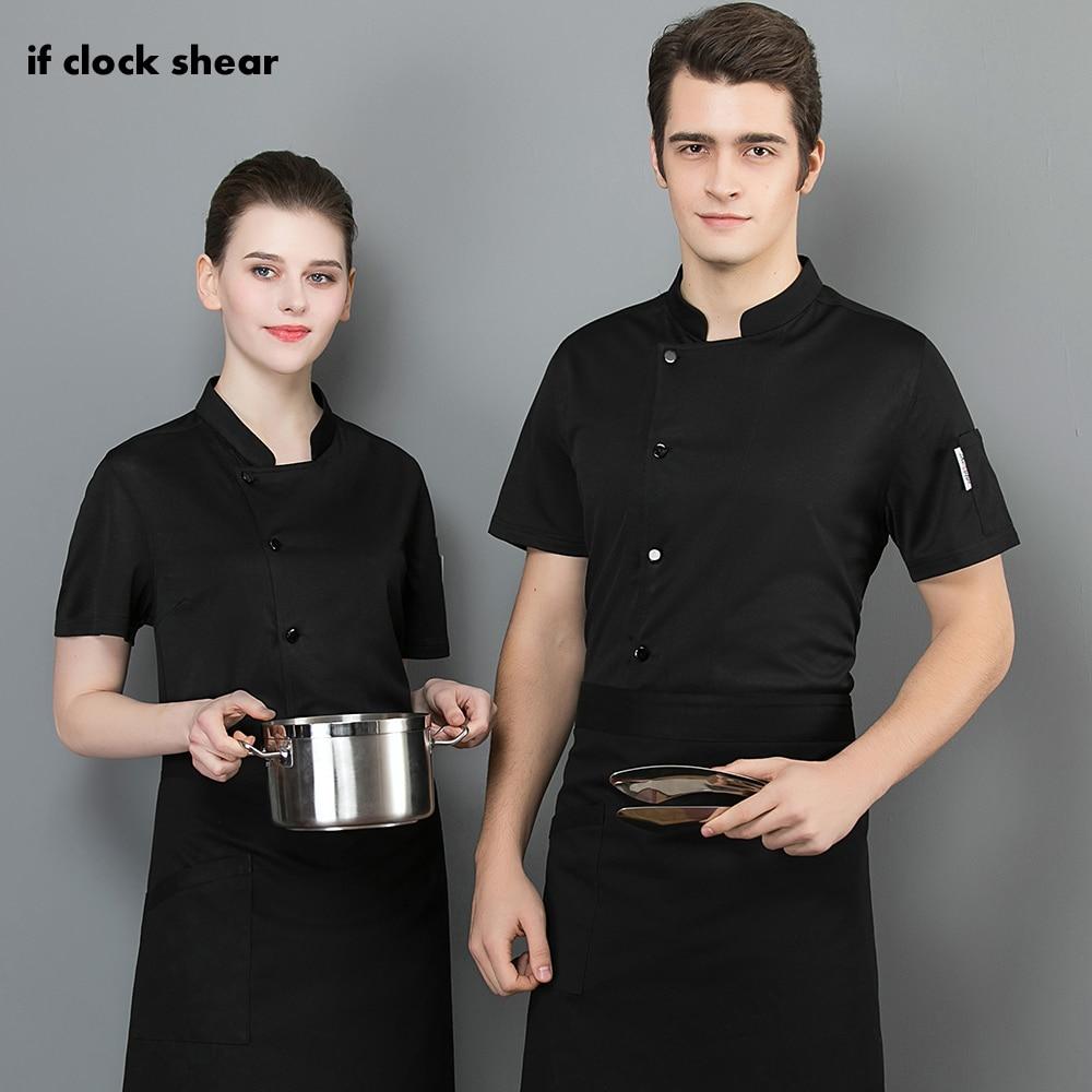 High Quality Short Sleeved Restaurant Hotel Kitchen Chef Uniform Unisex Breathable Cooker Shirt Chef Jacket Work Clothes Men New