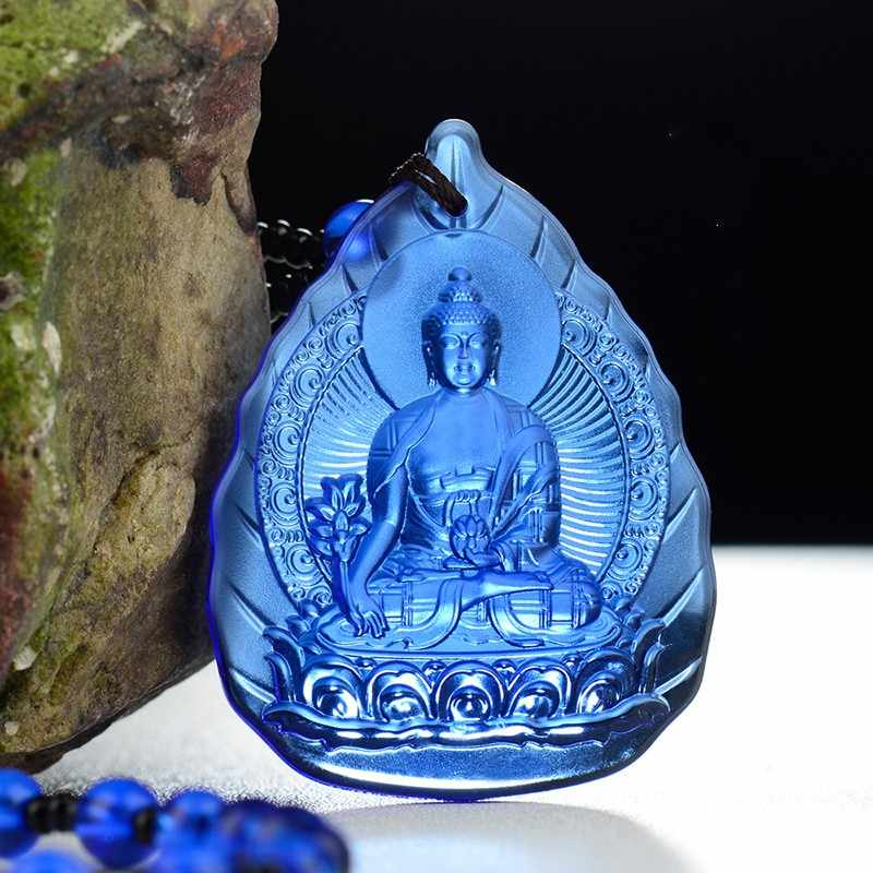 52.5x40mm Buddha Glazed drop Pendant Necklace 65cm chain length necklace high quality