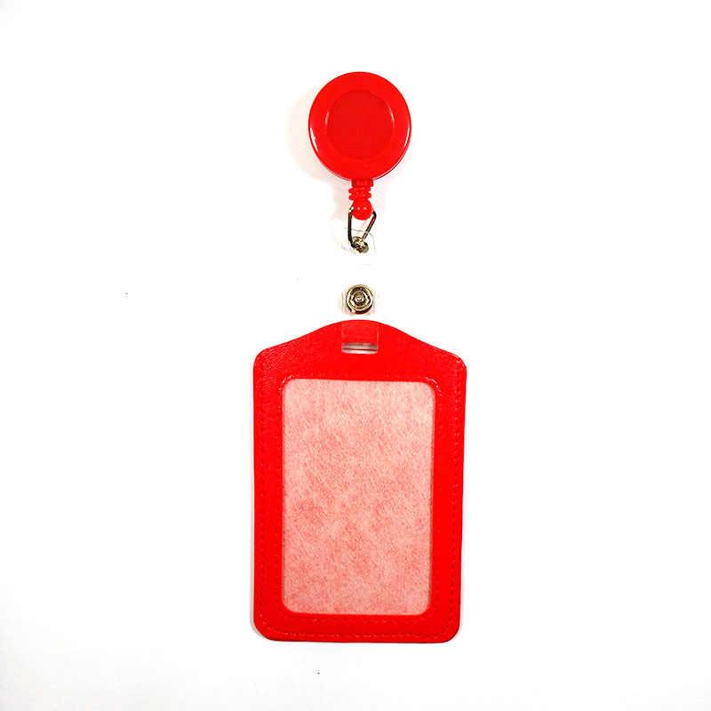 FHADST sin cremallera Banco barato tarjetas de crédito soportes de identificación de autobús identidad rojo amarillo azul insignia con carrete retráctil al por mayor