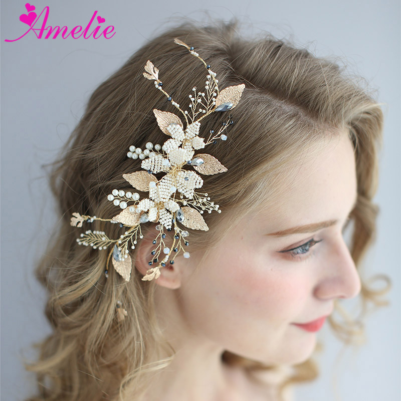 Celeb Style Designer Gold mesh Flower Holiday Party Hair Head Band US Seller