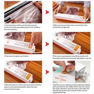Image 4 - Бытовой пищевой вакуумный упаковщик упаковочная машина для домашнего вакуумного упаковщика, в том числе 15 пакетов для вакуумного упаковщика