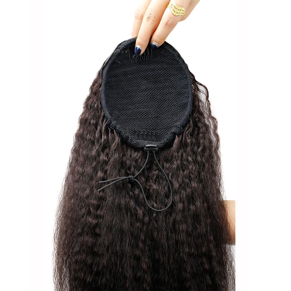 rabo de cavalo do cabelo humano grampo